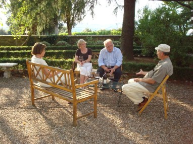 Tenute Silvio Nardi, Montalcino, 2008, with visitors from Denmark